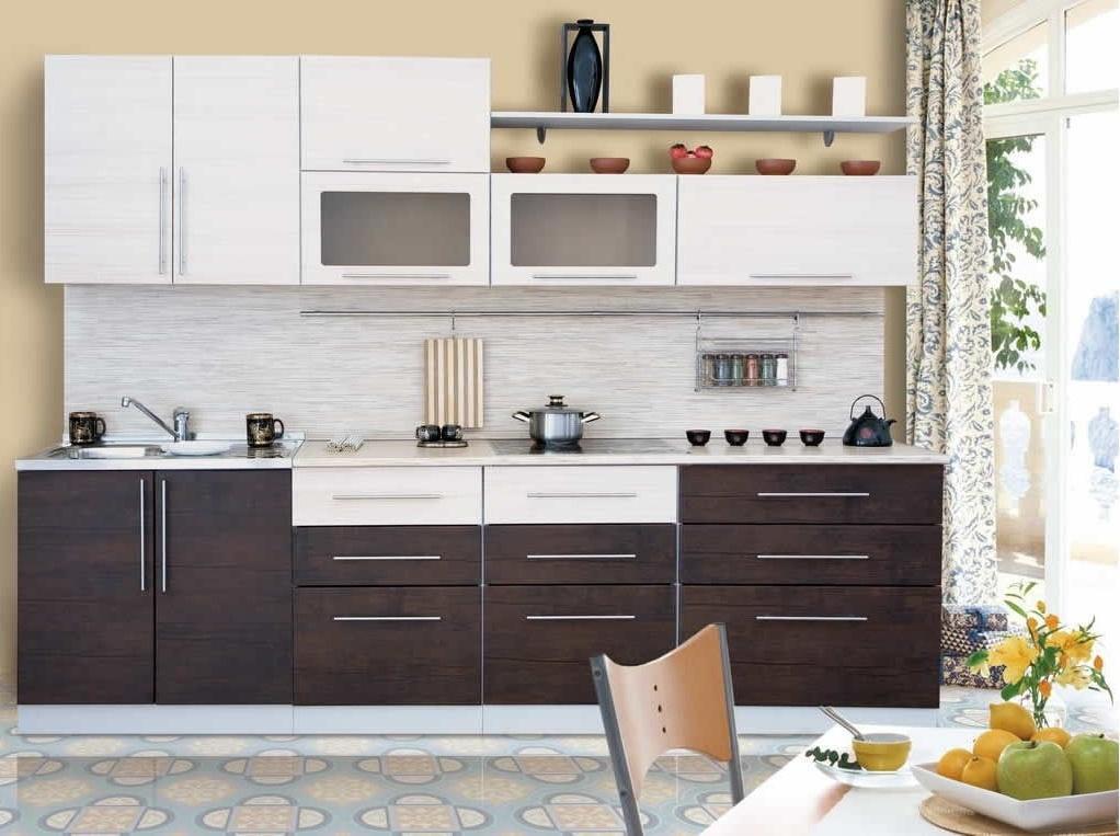 Эконом кухня цвет венге-белый